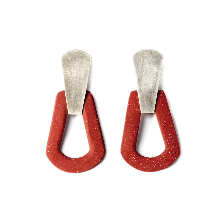 Tamara Earring / Cherry red
