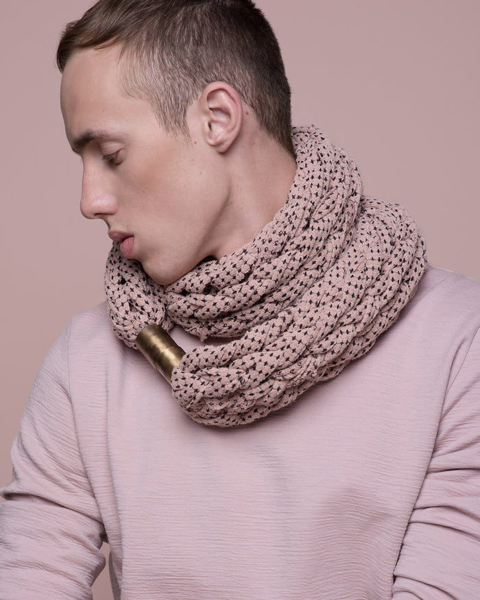 DAYO / Speckled blush chunky scarf