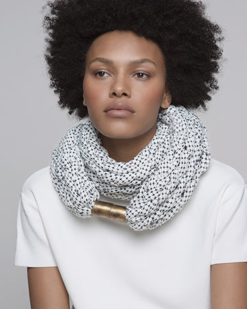 Dayo scarf / Black and white