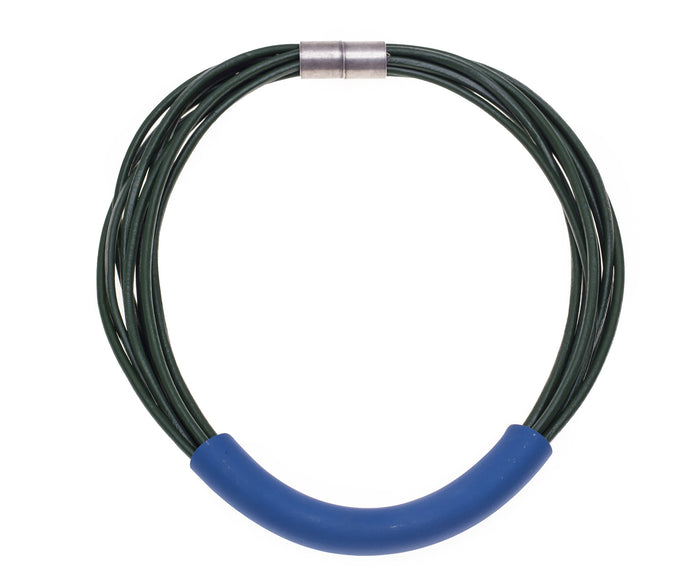 Folami / Cobalt blue tube necklace