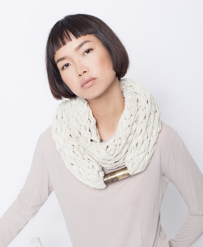 KIRABO / Cream white necklace scarf