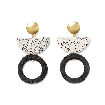Kirabo Earring / Black Foam