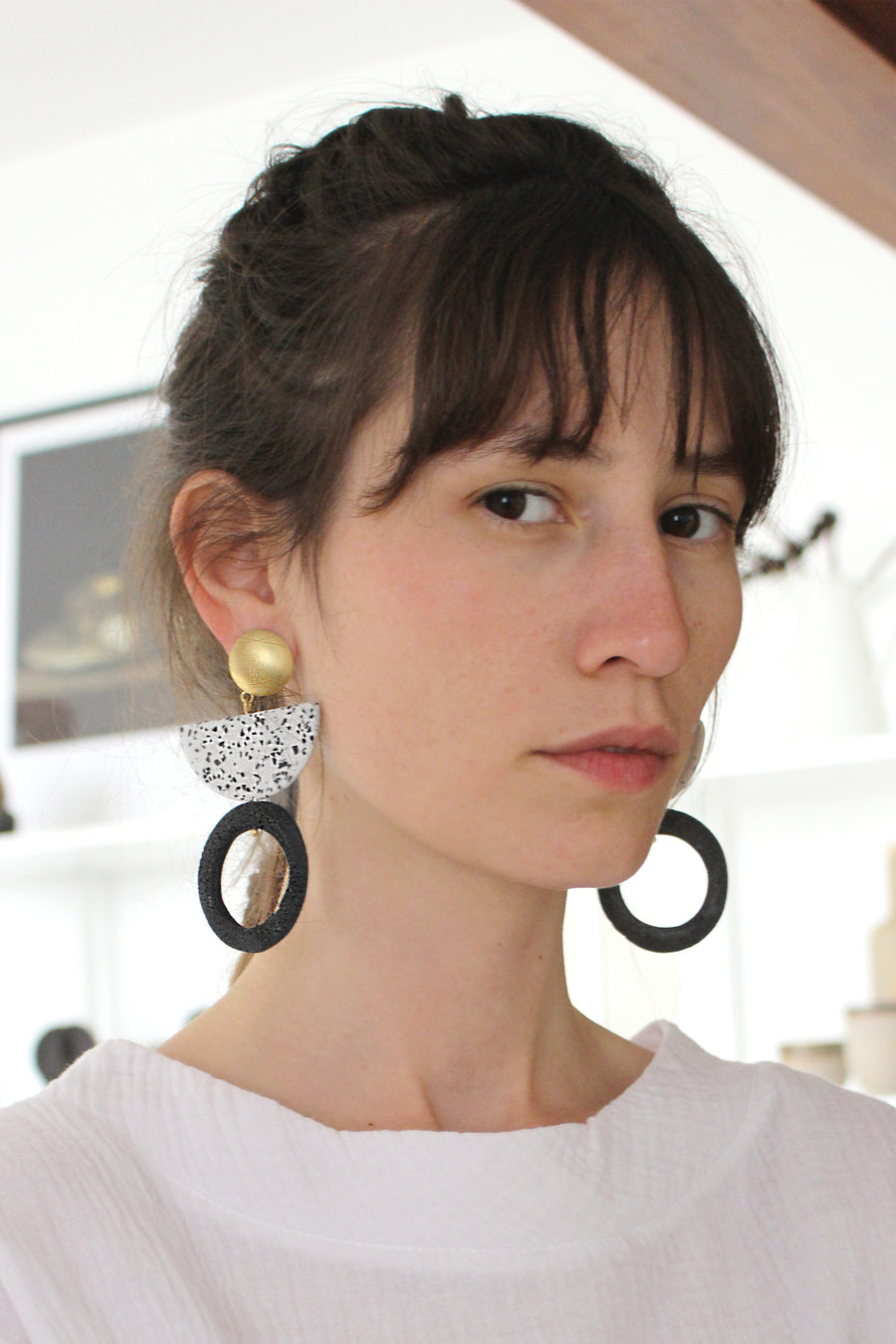 Kirabo Earring / Blue Foam