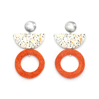 Kirabo Earring / Orange Foam