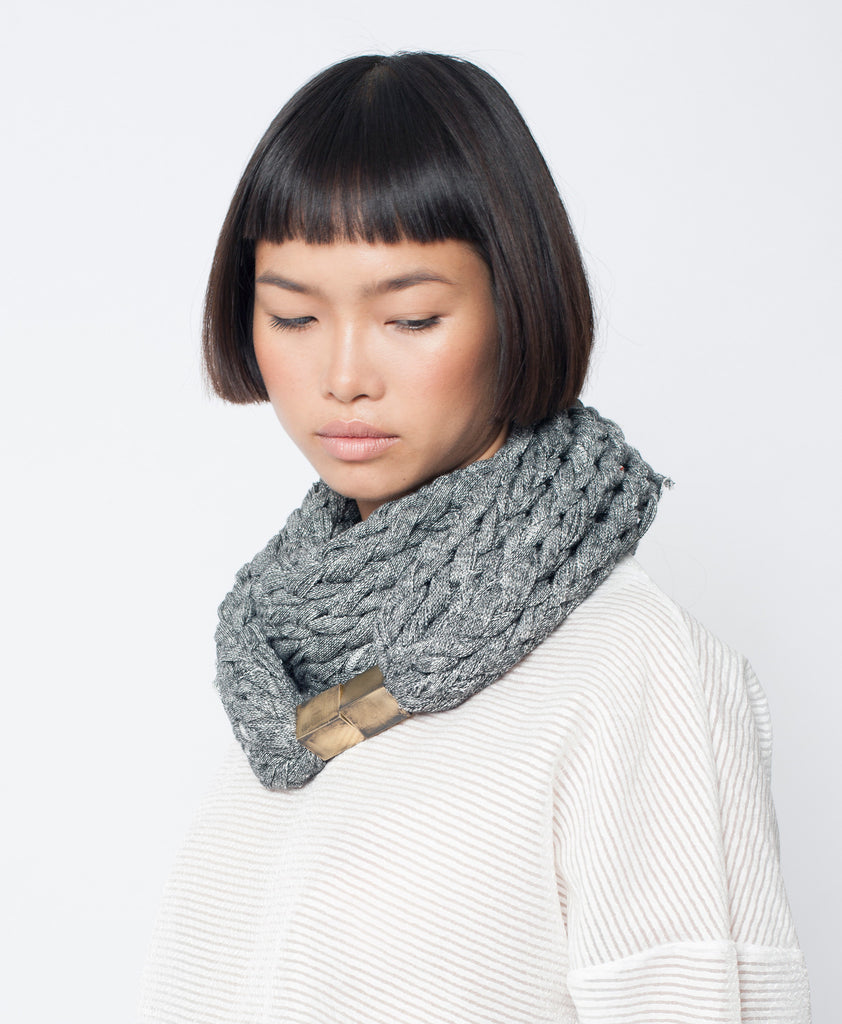 MOANA / Navy Blue French terry scarf