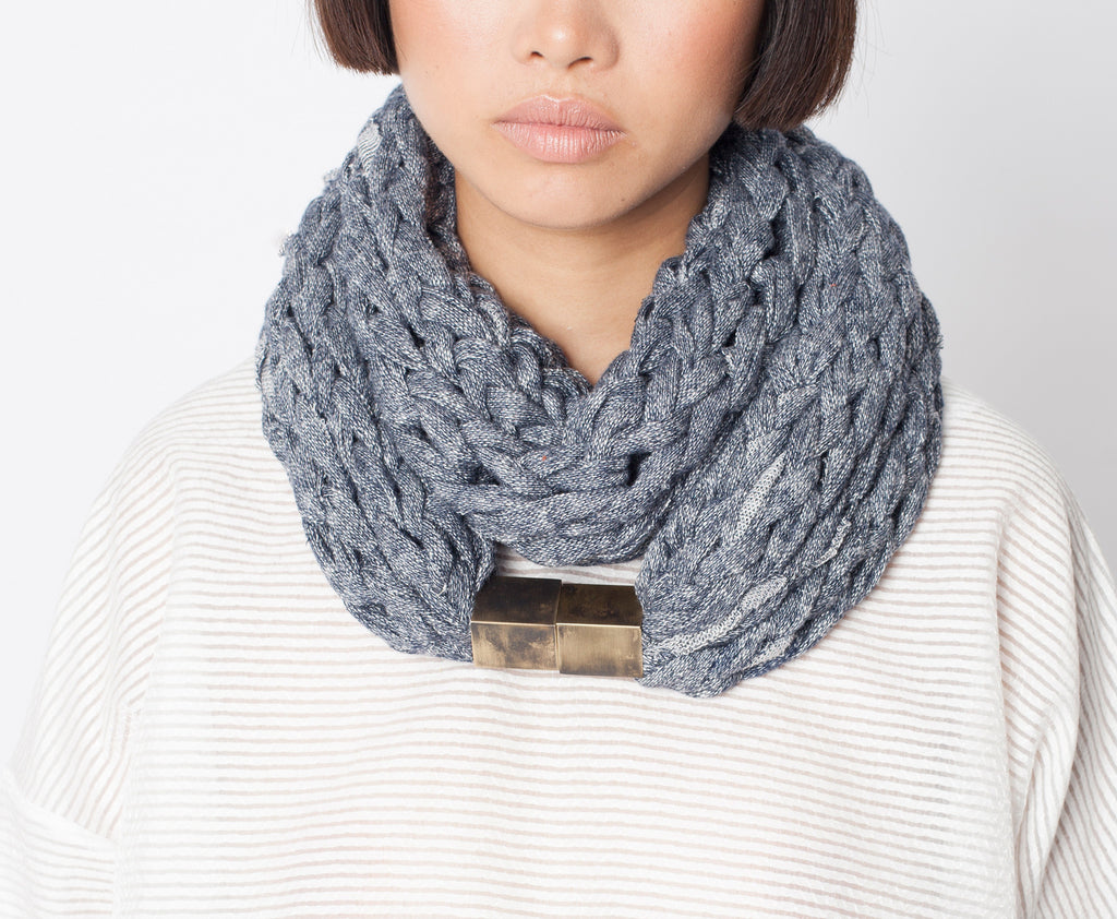 MOANA / Grey French terry scarf