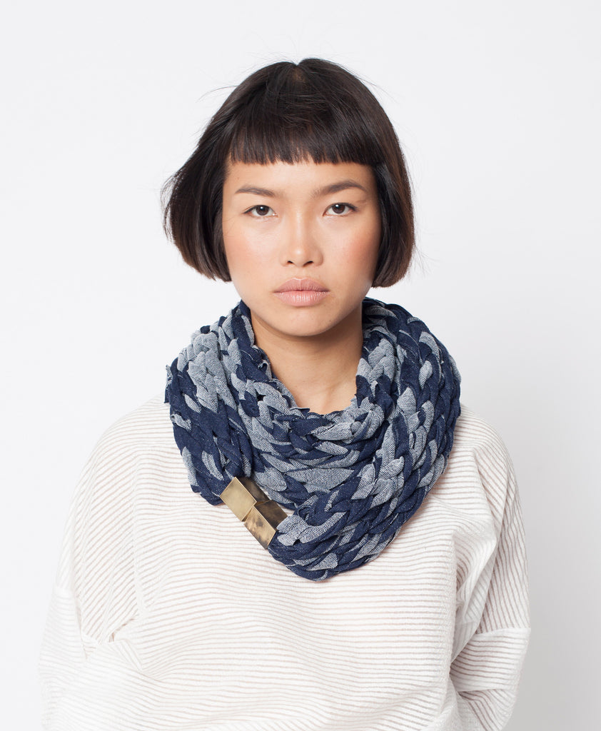 MOANA / Blue French terry scarf