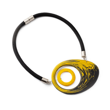 Mojo necklace / Yellow marble