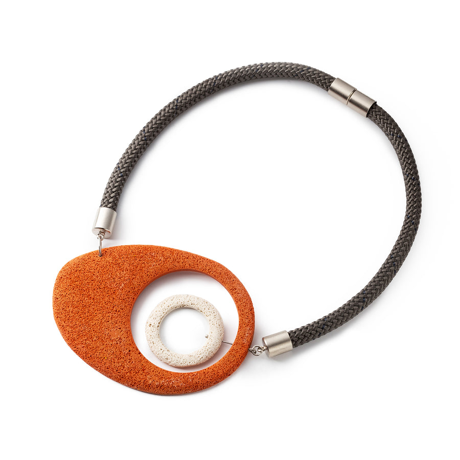 Mojo necklace / Orange foam