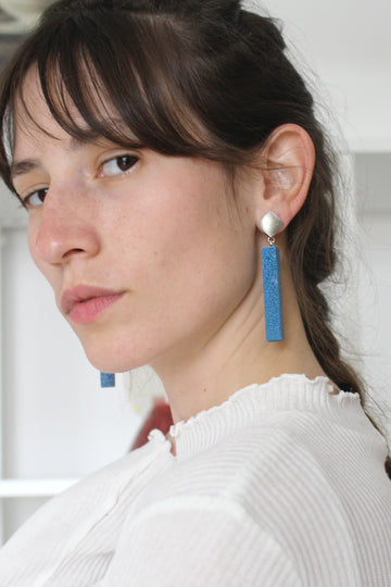 Momo Earring / Blue Foam
