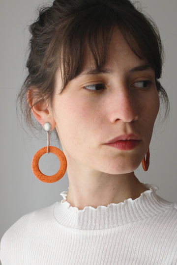 Shani Earring / Orange foam