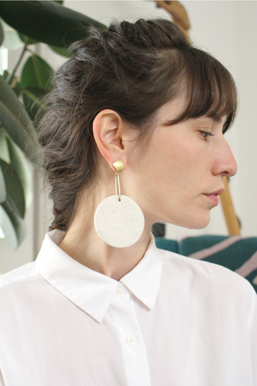 Sofi earring / White foam