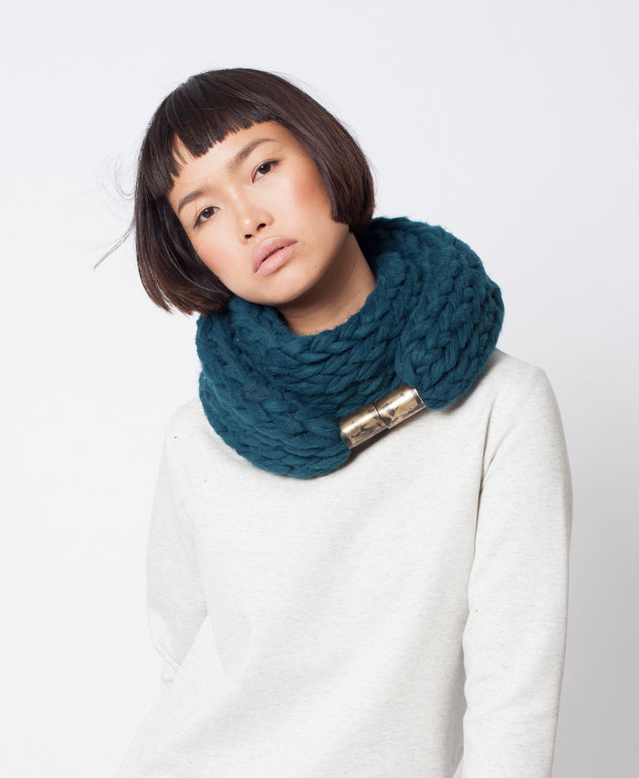 Vito Scarf \ Patrol grey chunky infinity scarf for winter
