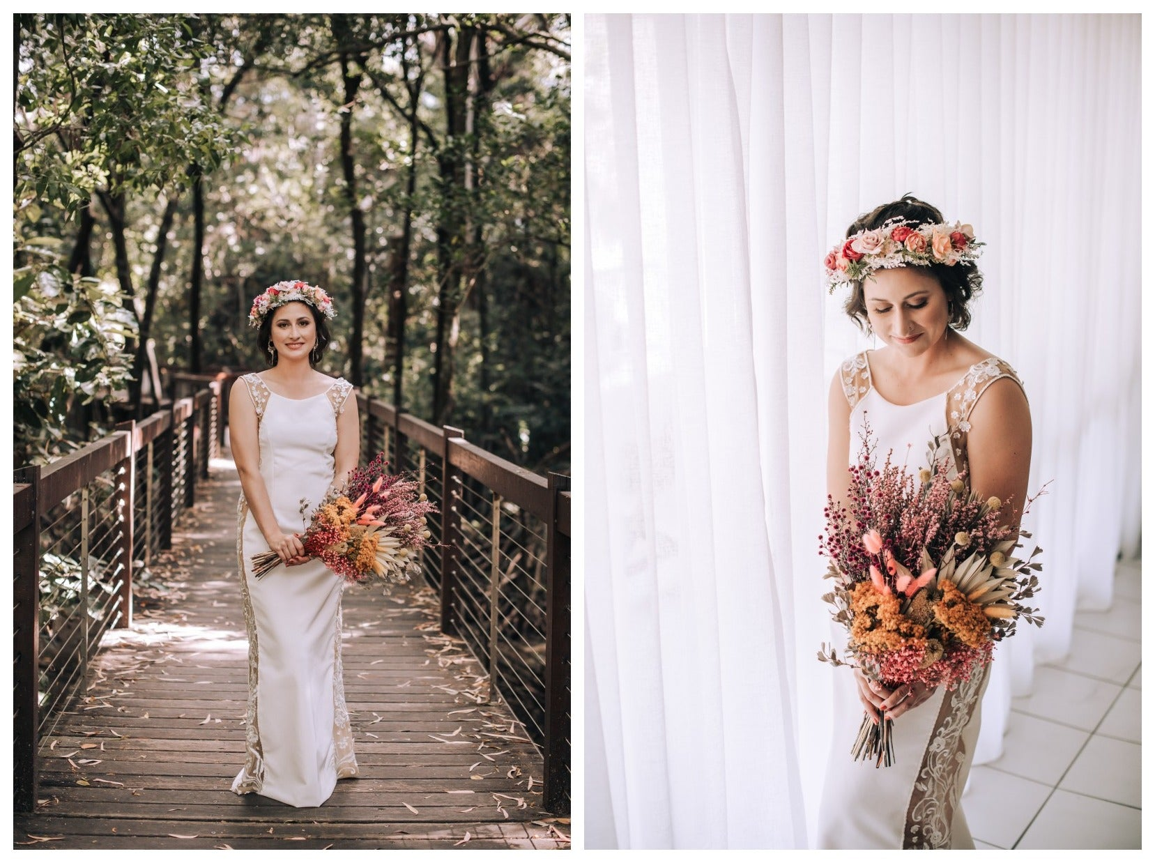 Beautiful dried flowers for wedding day