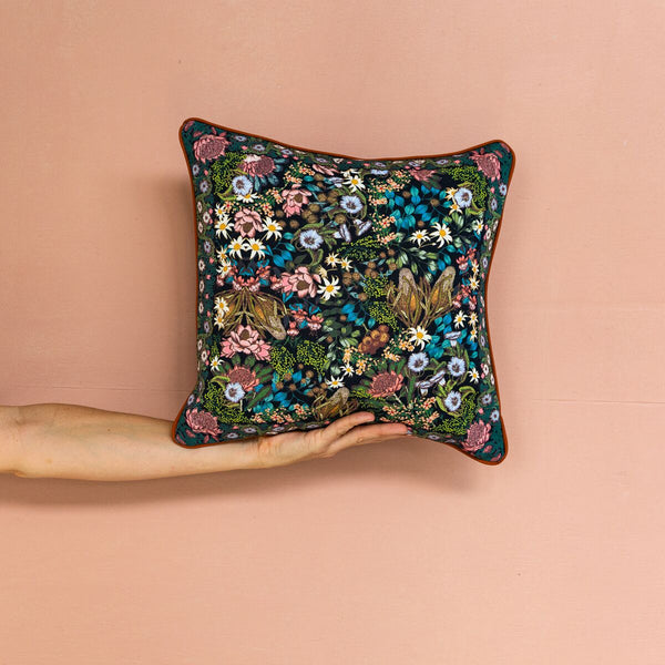 Wandering Folk | Native Wildflower Cushion Cover