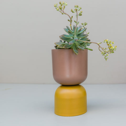 Lightly Design | Tone Planter Mustard and Bark