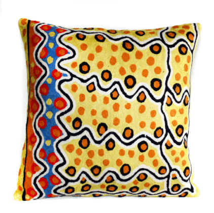 Better World Arts | Hand Stitched Cushion