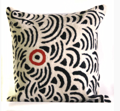 Better World Arts | Hand Stitched Wool Cushion