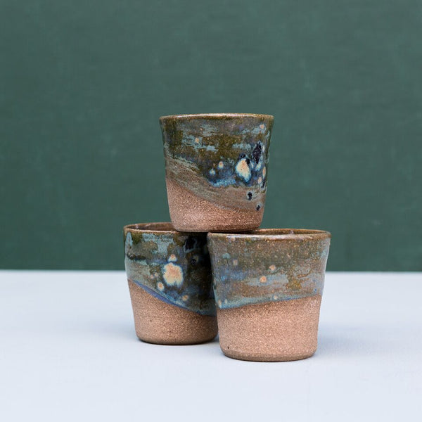 Currumbin Valley Ceramics | Earth Green Bellied Vessel