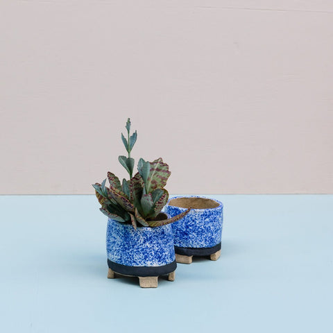 Clay Dates | Blue Speckled Planter