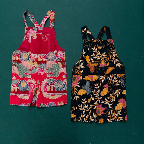 Bali Batik at Home | Kids Unisex Batik Overalls