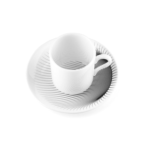 ILLUSION COFFEE CUP & SAUCER, SET OF 2
