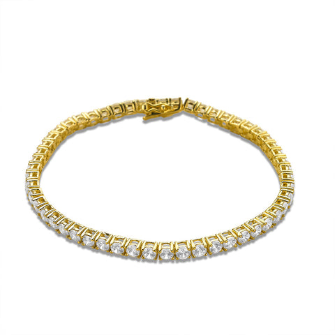 Tennis Bracelet made with Premium Zirconia - Gold