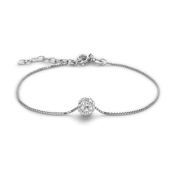 Glitter Ball Bracelet made with Premium Zirconia