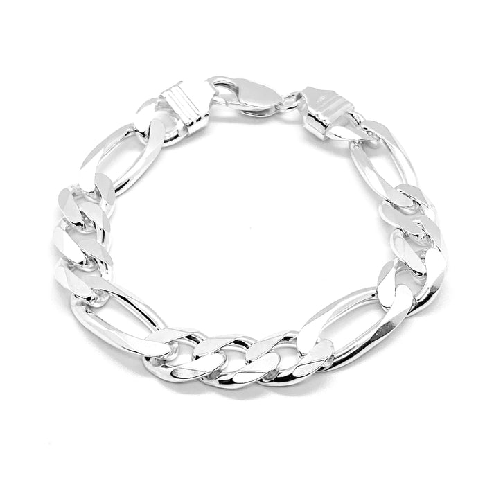 Men's Classic Thick Figaro Link Bracelet