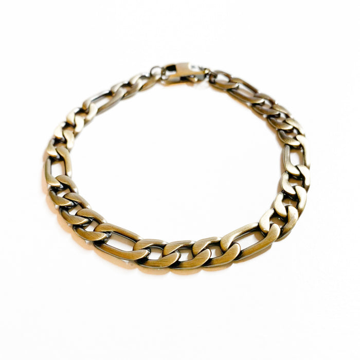 Men's Bronze Coloured Figaro Bracelet