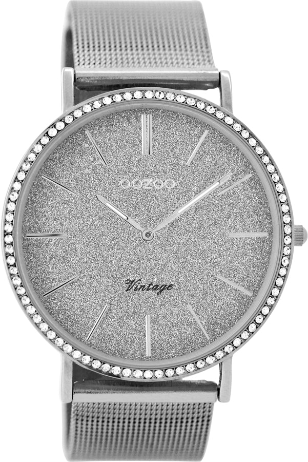 OOZOO Vintage Silver Watch