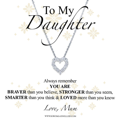 To My Daughter, Love Mum Box With Choice Of Necklace