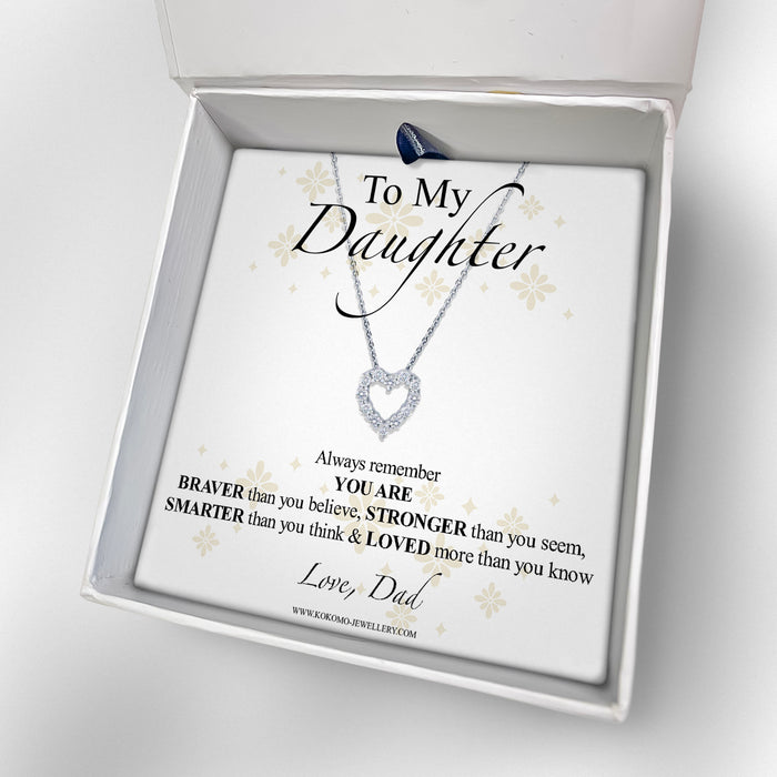To My Daughter, Love Dad Box With Choice Of Necklace