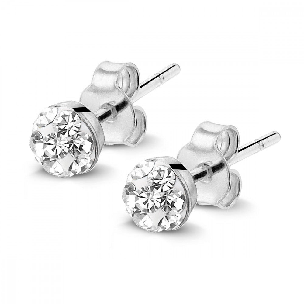 Glitter Ball Studs (4mm) made with Premium Zirconia