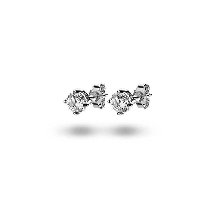 Solitaire Studs (5mm) made with Premium Zirconia