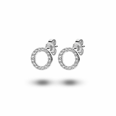 Open Circle Studs (10mm) made with Premium Zirconia