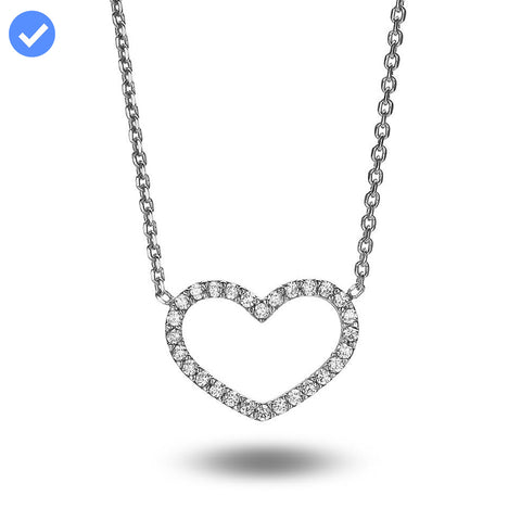 Open Heart Crystal Necklace