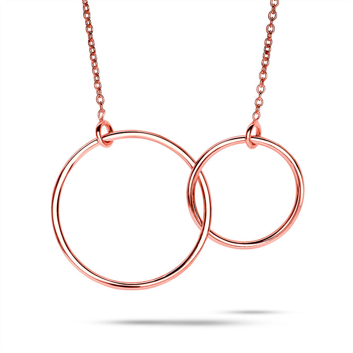 Linked Circle Necklace - Rose Gold