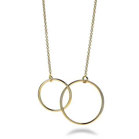 Linked Circle Necklace - Gold