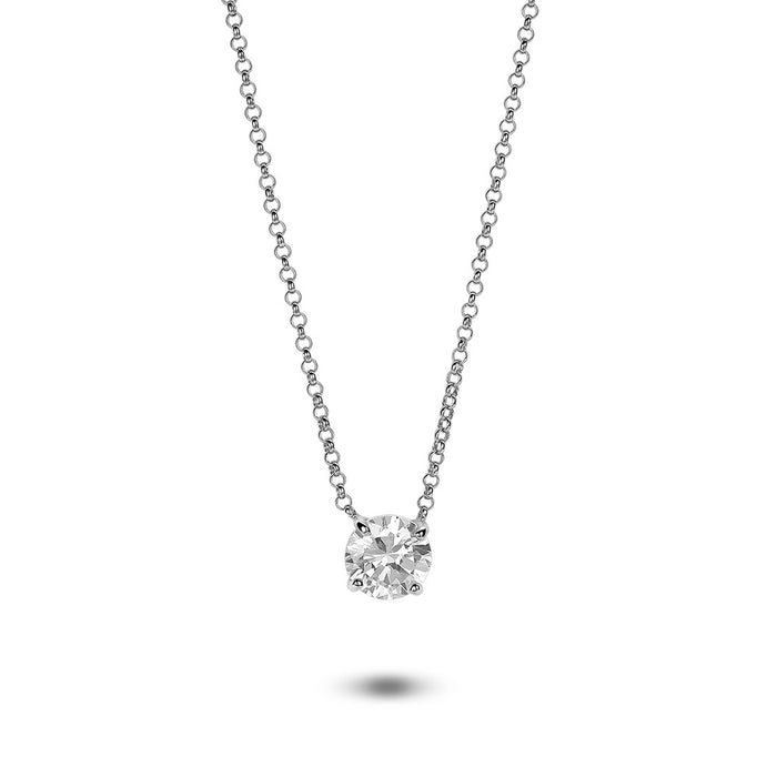 Single Stone Solitaire Necklace made with Premium Zirconia