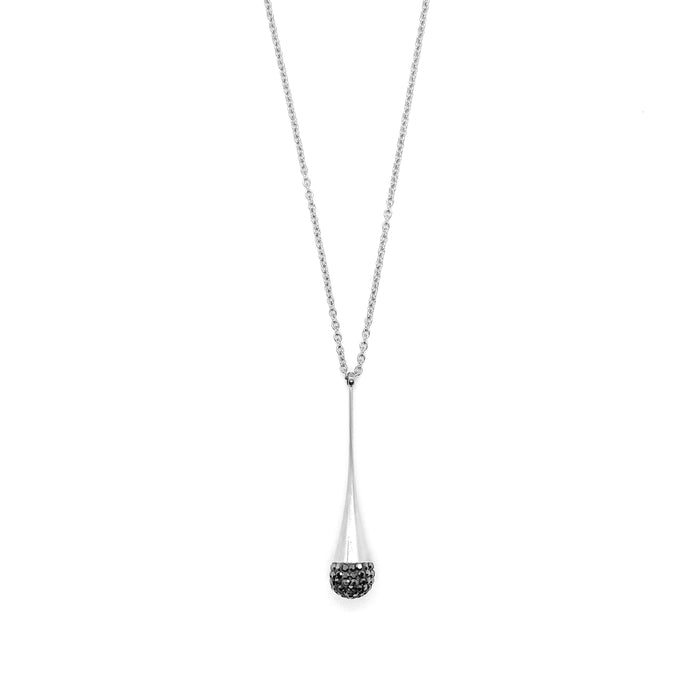 Black Disco Ball Drop Necklace