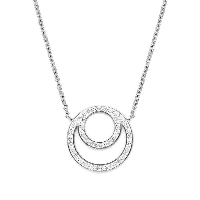 Double Circle Crystal Necklace