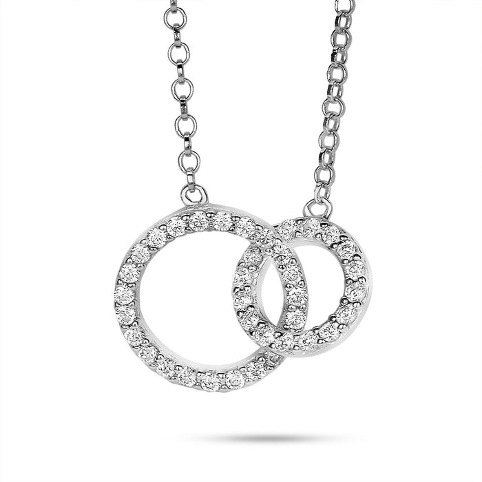 Linked Circle Necklace made with Premium Zirconia