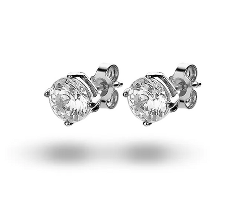 Solitaire Studs (6mm) made with Premium Zirconia
