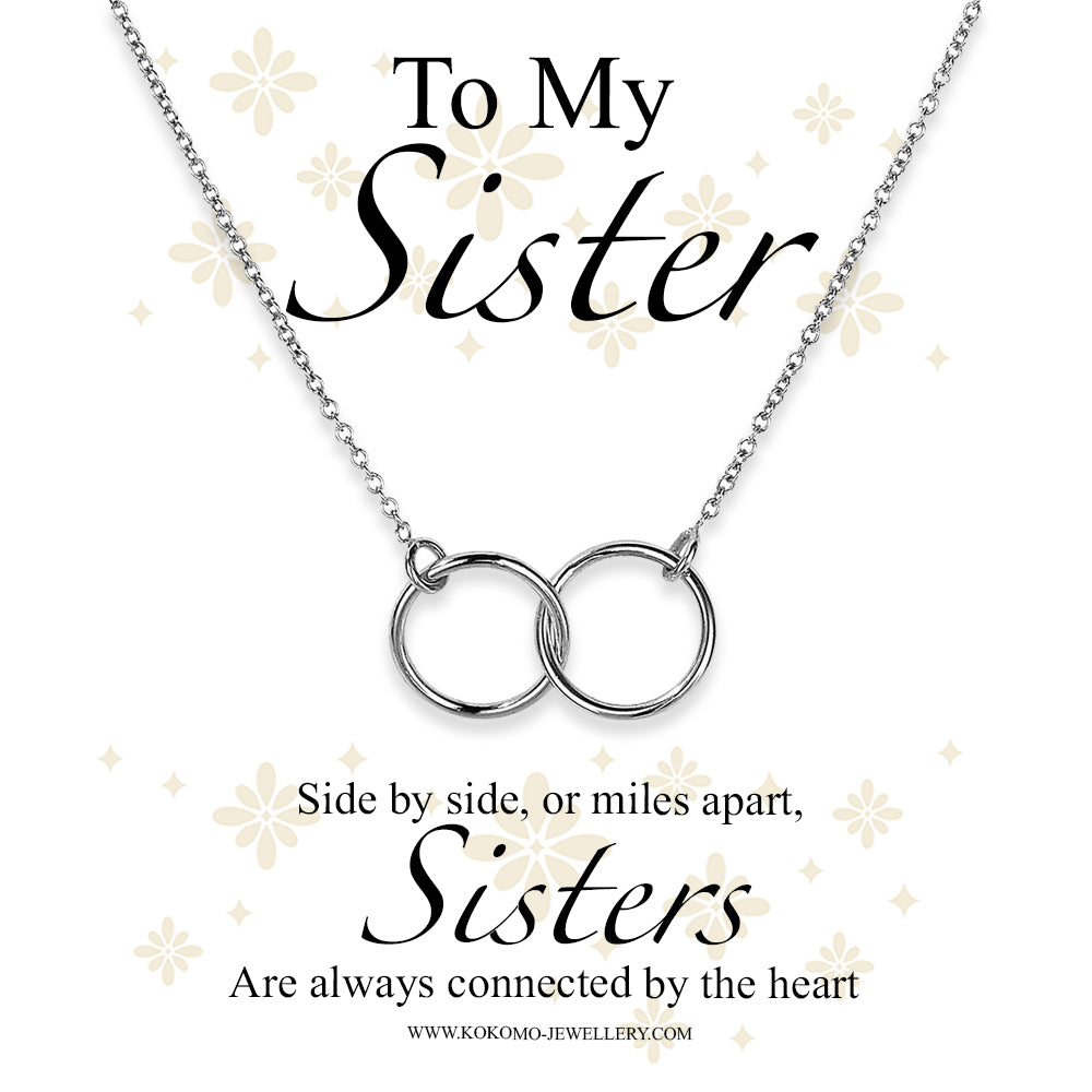 To My Sister Box Linked Circle Necklace