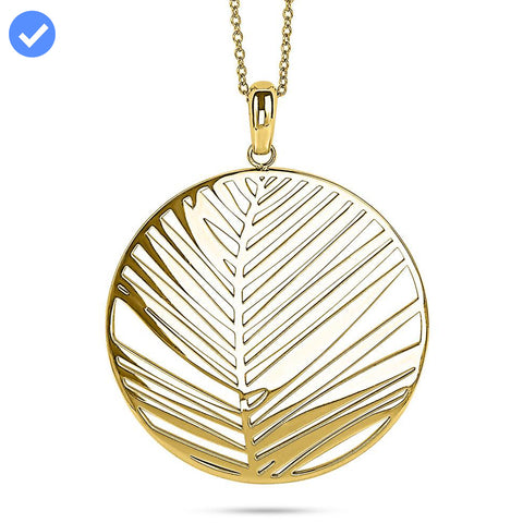 Gold Laser Cut Circle Necklace