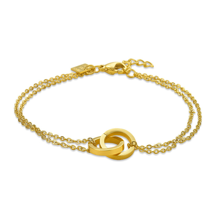 Gold Linked Circle Bracelet