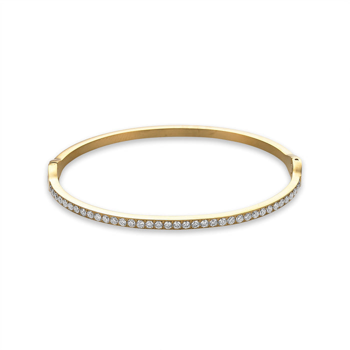 Gold Crystal Bangle