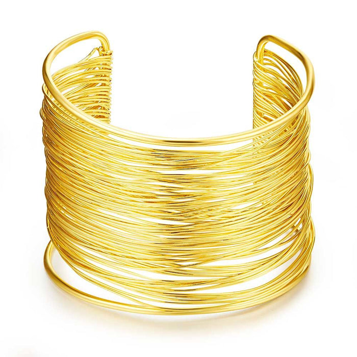 Gold Chunky Cuff Bangle