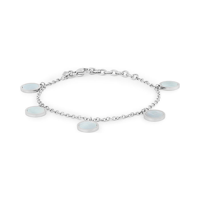 Mother of Pearl Disk Charm Bracelet